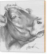 Milk Cow Wood Print