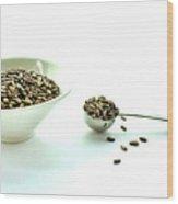 Milk Thistle Seeds Wood Print