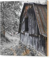 Milking Barn Wood Print