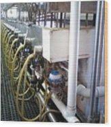 Milking Parlour Wood Print