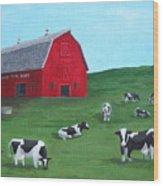 Milking Time Dairy Wood Print