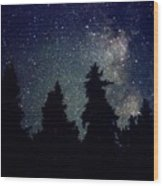 Milky Way Above Northern Forest 22 Wood Print