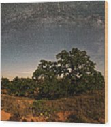 Milky Way Arch Over Enchanted Rock State Natural Area - Fredericksburg Texas Hill Country Wood Print