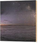 Milky Way At Nautical Twilight Wood Print