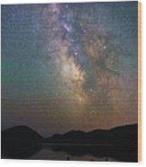 Milky Way Eagle Lake Wood Print