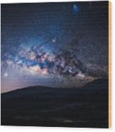 Milky Way Galaxy From Earth Wood Print