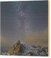 Milky Way In Lofoten Wood Print