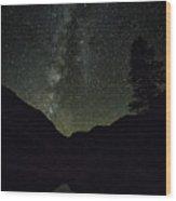 Milky Way Lee Vining Area 2 Wood Print