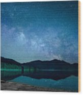 Milky Way Morning Wood Print