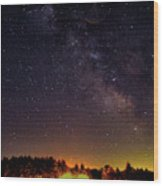 Milky Way, Moultonborough, Nh Wood Print