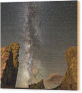 Milky Way Over Crest House Wood Print