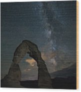 Milky Way Over Delicate Arch Wood Print