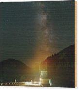 Milky Way Over Detroit Dam Wood Print