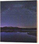 Milky Way Over Lonesome Lake Wood Print