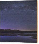 Milky Way Over Lonesome Lake Panorama Wood Print