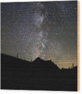 Milky Way Over Mcgown Peak Wood Print
