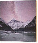 Milky Way Over Mt Cook Wood Print
