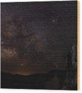 Milky Way Over Navajo Loop Trail Wood Print