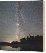 Milky Way Over Schwabacher's Landing Wood Print