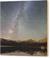 Milky Way Over The Colorado Indian Peaks Wood Print