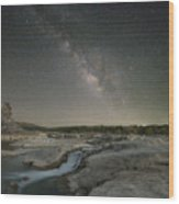 Milky Way Over The Texas Hill Country 2 Wood Print