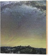 Milky Way Over Yosemite Valley Wood Print