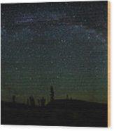 Milky Way Panorama Wood Print