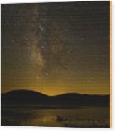 Milky Way Refection Wood Print