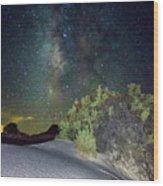 Milky Way White Sands Wood Print