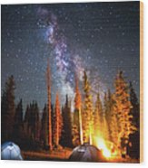 Milky Way Wood Print by William Church - Summit42.com