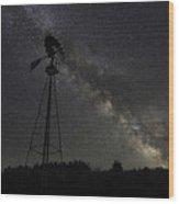 Milky Way Windmill  Wood Print