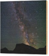 Milkyway Over Chief Mt Wood Print