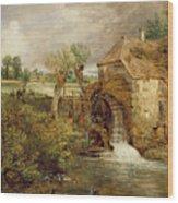 Mill At Gillingham - Dorset Wood Print by John Constable