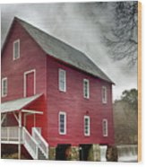 Mill At Whitewater Cree Wood Print