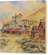 Mill Bodie Ghost Town California Wood Print