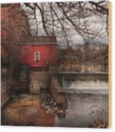 Mill - Clinton Nj - The Mill And Wheel Wood Print