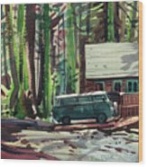 Mill Creek Camp Wood Print