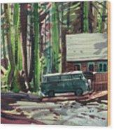 Mill Creek Camp Wood Print