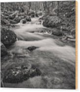 Mill Creek Monochrome Wood Print