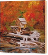 Mill Creek Wood Print