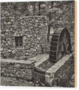 Mill Creek Water Wheel Wood Print