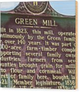 Mill Description Wood Print