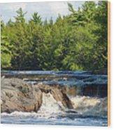 Mill Falls, Kejimkujik National Park, Nova Scotia Wood Print