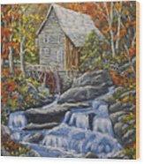 Mill Scene 03 Wood Print