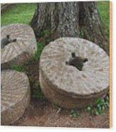 Mill Stone Wood Print