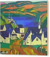Mill Town, Quebec Wood Print