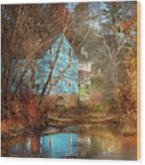 Mill - Walnford, Nj - Walnford Mill Wood Print