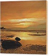 Mill Way Beach Sunset Wood Print