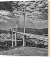 Millau Bridge France Wood Print