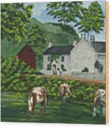 Milldale In Staffordshire Wood Print